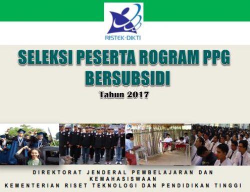 PENDIDIKAN PROFESI GURU (PPG) BERSUBSIDI TAHUN 2017