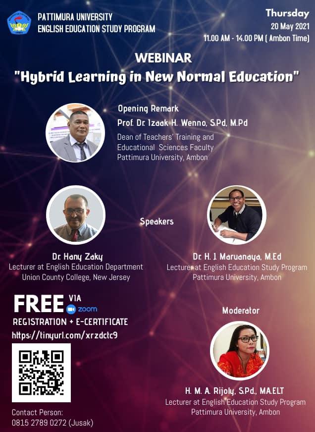 National Webinar: Hybrid Learning in New Normal Education
